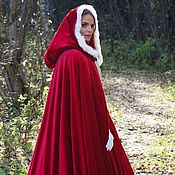 Субкультуры handmade. Livemaster - original item Cloak cape with hood and fur. Handmade.