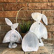 Для дома и интерьера handmade. Livemaster - original item Wooden Rabbits. Handmade.