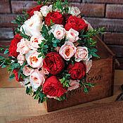 Свадебный салон ручной работы. Ярмарка Мастеров - ручная работа Свадебный букет невесты из живых цветов Пиано. Handmade.