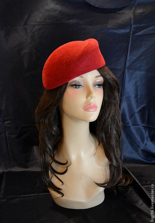 """Шляпы ручной работы. Ярмарка Мастеров - ручная работа. Купить Шляпка """" Wine"""". Handmade. Бордовый, фетровая шляпка"""