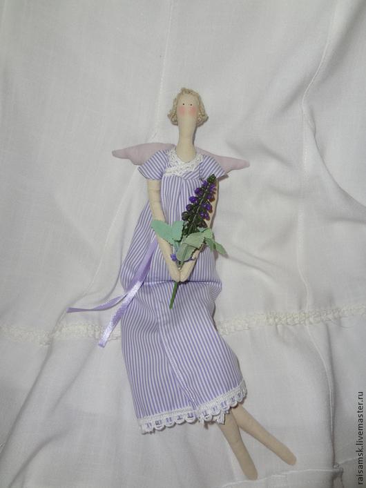 Куклы Тильды ручной работы. Ярмарка Мастеров - ручная работа. Купить Лавандовый Ангел.. Handmade. Сиреневый, прованс, подарок, стиль