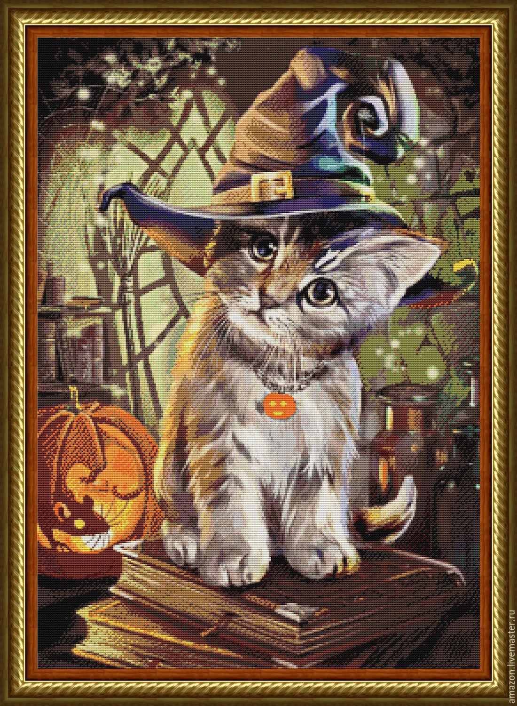 "KIT EMBROIDERY with BEADS"" Halloween"", Creator\'s Kit, Ufa,  Фото №1"
