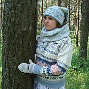 Аксессуары ручной работы. Ярмарка Мастеров - ручная работа Шапка-шарф. Handmade.