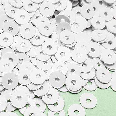 Материалы для творчества ручной работы. Ярмарка Мастеров - ручная работа Пайетки 4 мм плоские. Handmade.