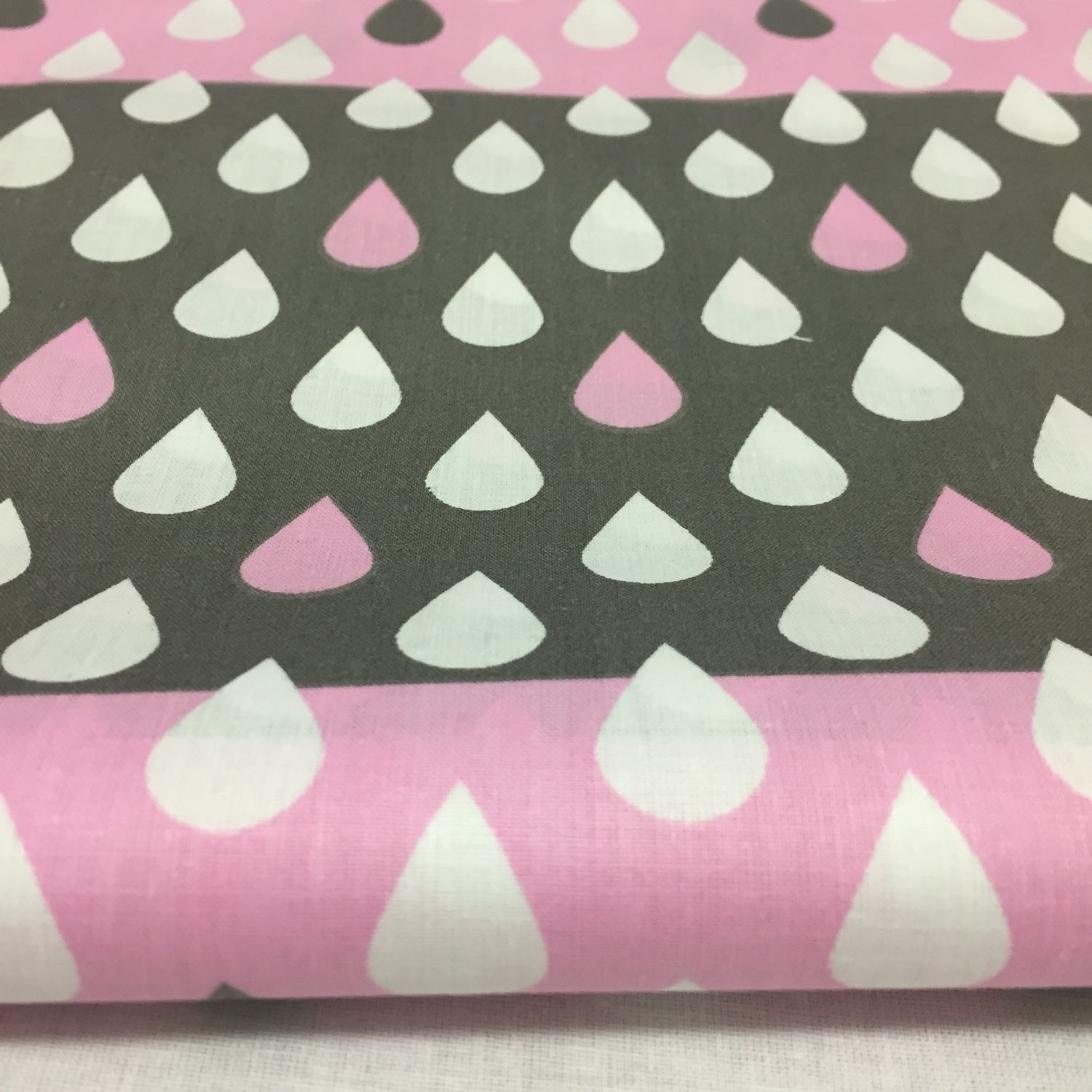 100% cotton, Poland, drops on pink, Fabric, Moscow,  Фото №1