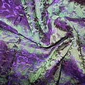 Аксессуары ручной работы. Ярмарка Мастеров - ручная работа Платок шелк 100% зелено-фиолетовый-резерв для Елены. Handmade.