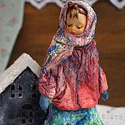 Куклы и игрушки handmade. Livemaster - original item Copy of Copy of Copy of Copy of Cotton Batting Christmas Ornament. Handmade.