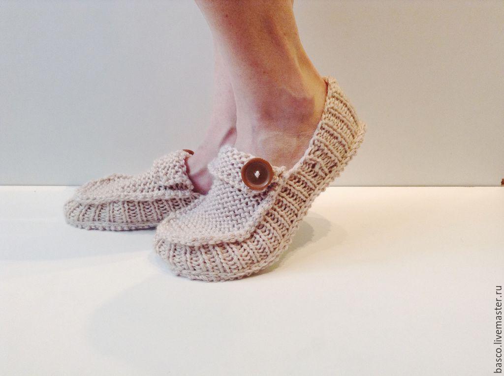 Ярмарка мастеров вязание тапочки