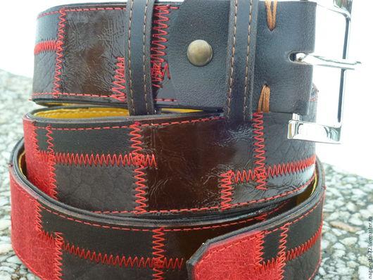 """Пояса, ремни ручной работы. Ярмарка Мастеров - ручная работа. Купить ремень из кожи """"городской стиль 3""""(продано). Handmade. Комбинированный"""
