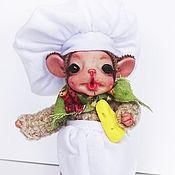 Куклы и игрушки ручной работы. Ярмарка Мастеров - ручная работа Мышонок-повар.. Handmade.