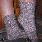 Аксессуары handmade. Livemaster - original item Women`s knitted socks Silver serpentines. Handmade.