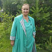 """Одежда ручной работы. Ярмарка Мастеров - ручная работа Плащ с платьем """"Зеленый чай"""". Handmade."""