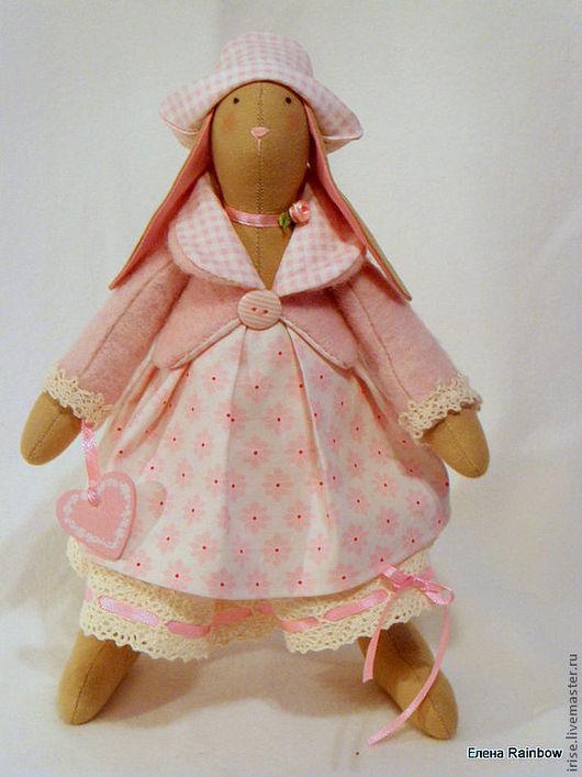 Куклы Тильды ручной работы. Ярмарка Мастеров - ручная работа. Купить Зайка Розита. Handmade. Розовый, ручная работа