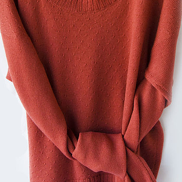 Одежда ручной работы. Ярмарка Мастеров - ручная работа Джемпер вязаный из шерсти альпака. Handmade.
