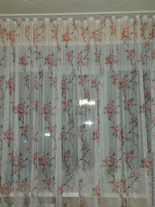 Текстиль, ковры ручной работы. Ярмарка Мастеров - ручная работа. Купить Шторы.Тюль.Вуаль.. Handmade. Комбинированный, шторы для гостиной