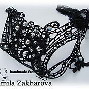 "Одежда ручной работы. Ярмарка Мастеров - ручная работа Кружевная маска ""Незнакомка"". Handmade."