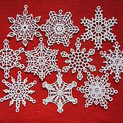 Сувениры и подарки handmade. Livemaster - original item The lace snowflakes set of 10 pieces. Handmade.