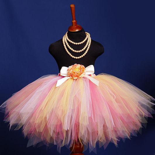 """Одежда для девочек, ручной работы. Ярмарка Мастеров - ручная работа. Купить """"Фея ранней весны"""" пышная юбка-пачка из фатина. Handmade."""