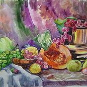 """Картины и панно ручной работы. Ярмарка Мастеров - ручная работа картина акварелью """"Вкусный август"""". Handmade."""