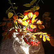 Цветы и флористика ручной работы. Ярмарка Мастеров - ручная работа Осенний букет с физалисом. Handmade.