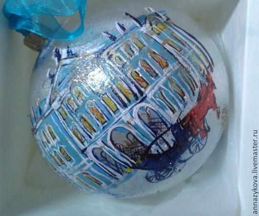 Новый год 2017 ручной работы. Ярмарка Мастеров - ручная работа. Купить Зимний дворец. Handmade. Синий, дворец, стекло