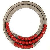 Украшения handmade. Livemaster - original item Mesh tube necklace with red coral.. Handmade.