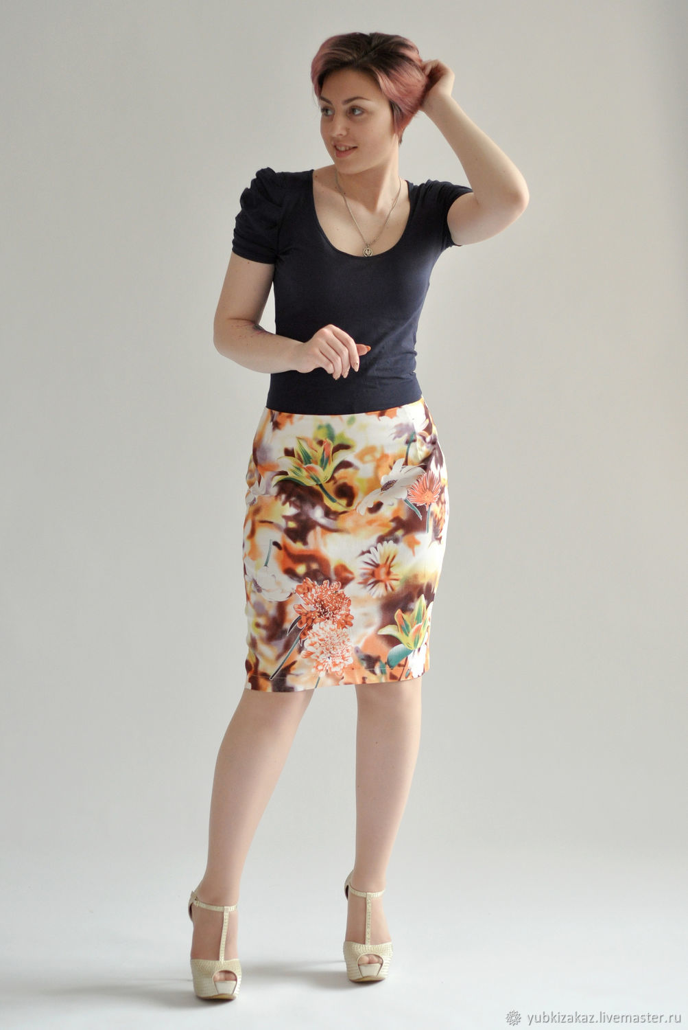 b75aa7e20 Skirt Summer Heat cotton – shop online on Livemaster with shipping ...