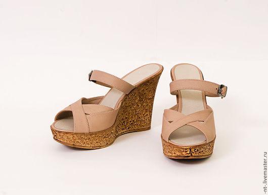 Обувь ручной работы. Ярмарка Мастеров - ручная работа. Купить Босоножки Вудсток. Handmade. Бежевый, туфли, туфли ручной работы