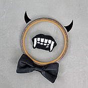 Украшения handmade. Livemaster - original item Embroidered brooch Vampire. Handmade.