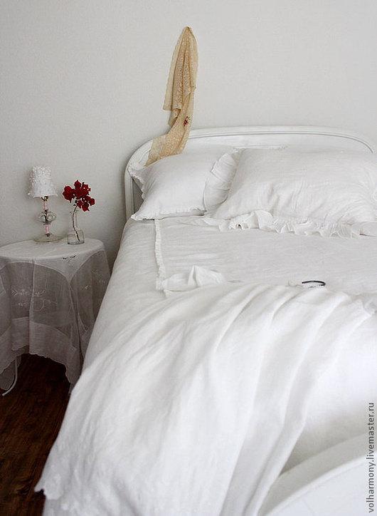 Текстиль, ковры ручной работы. Ярмарка Мастеров - ручная работа. Купить Льняное постельное белье. Handmade. Постельное белье