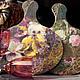Кухня ручной работы. Ярмарка Мастеров - ручная работа. Купить Досочки Цветы и точки. Handmade. Доска декупаж, сувенир, цветы