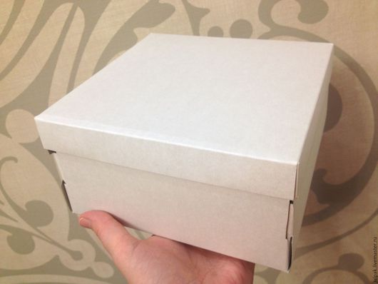 Упаковка ручной работы. Ярмарка Мастеров - ручная работа. Купить Коробка для торта 18х18х9 см  0,5 кг. Handmade.