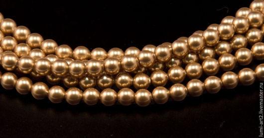 Для украшений ручной работы. Ярмарка Мастеров - ручная работа. Купить 3мм Bright Gold  Жемчуг Сваровски 306 Swarovski Perl 40 шт. Handmade.