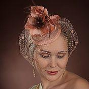 """Шляпы ручной работы. Ярмарка Мастеров - ручная работа Шляпка коктельная из соломки """"Маки"""". Handmade."""