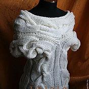 Одежда handmade. Livemaster - original item White tank top with braids. Handmade.