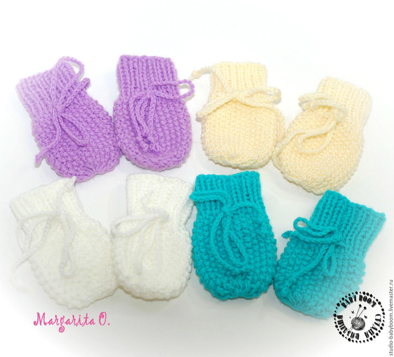 Варежки для новорожденного вязание