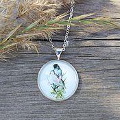 Украшения handmade. Livemaster - original item Pendant silver plated bird Lovers. Handmade.