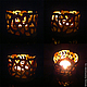 Candle holder Carved amber, Candlesticks, Moscow,  Фото №1