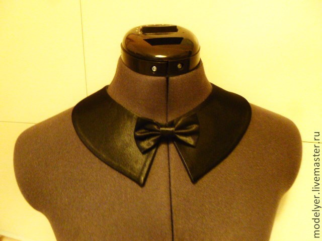 The collar is detachable universal / satin black, Brooches, Moscow,  Фото №1