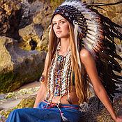 Аксессуары handmade. Livemaster - original item Indian headdress - roach