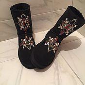 """Обувь ручной работы. Ярмарка Мастеров - ручная работа Угги со стразами """"Mademoiselle"""" натуральные. Handmade."""