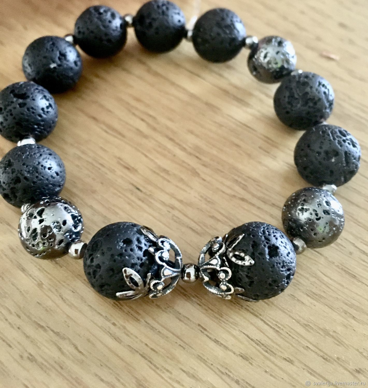 Bracelet made of lava, Bead bracelet, Riga,  Фото №1