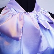 Одежда handmade. Livemaster - original item Blouse with bow 40P.,42p.,44r.,46R.,48r.,50p./ silk white. Handmade.