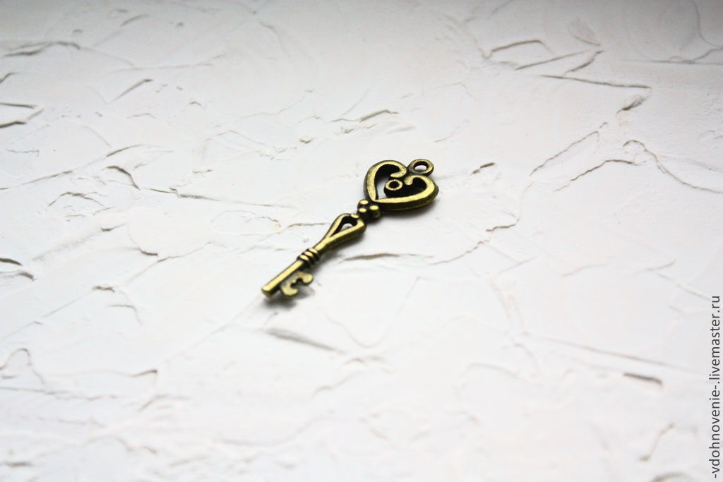 Для украшений ручной работы. Ярмарка Мастеров - ручная работа. Купить Подвеска КЛЮЧ. Handmade. Ключ, бронза, ключик