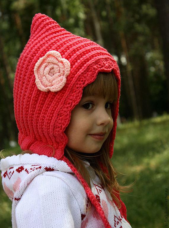 Вязание детской шапки-капор 2
