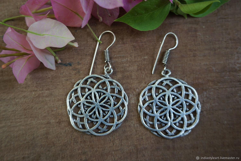 Earrings classic: Flower of life earrings, Earrings, Novosibirsk,  Фото №1