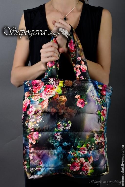 Алина Сапогова: Авторская мягкая стеганая сумка-шоппер `Венский лес` фотограф Александр Сапогов