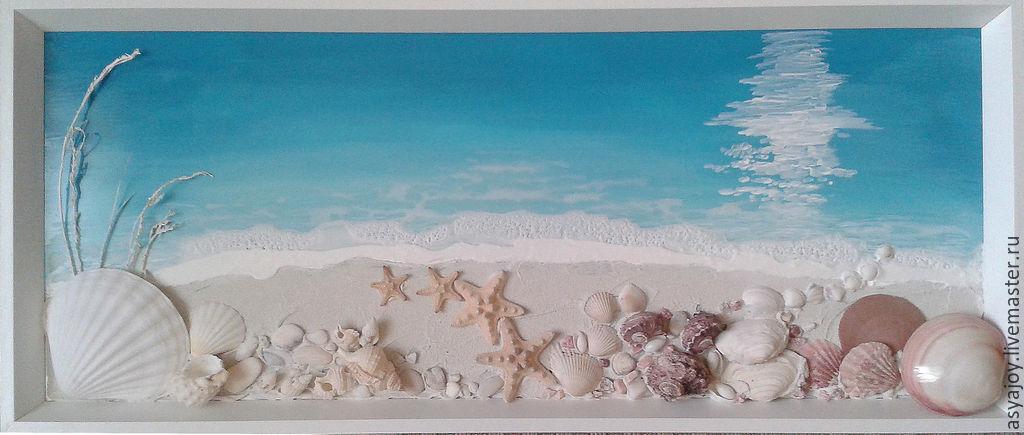 Картины из ракушек морских