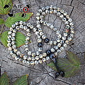 Фен-шуй и эзотерика handmade. Livemaster - original item Buddhist Mala prayer beads made of Jasper and black agate,108 grains, the node Mahakala. Handmade.