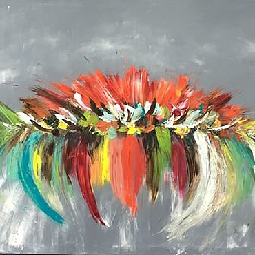 Картины и панно ручной работы. Ярмарка Мастеров - ручная работа Картина маслом Райский остров 80/100 см. Handmade.